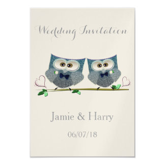 Two Grooms Wedding Invitation Cards 9 Cm X 13 Cm Invitation Card