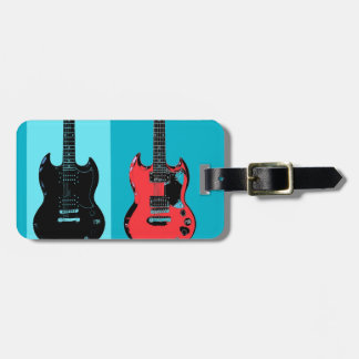 Two Guitars Luggage Tag