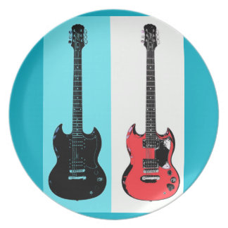 Two Guitars Plate