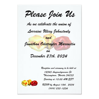 two habanero yellow one red pepper cutout graphic 13 cm x 18 cm invitation card