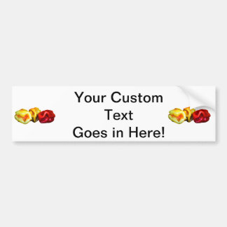 two habanero yellow one red pepper cutout graphic bumper sticker