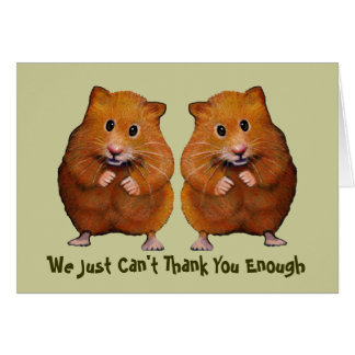 TWO HAMSTERS THANK YOU CARD