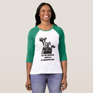Two-Handicapper  3/4 Sleeve Raglan Golf T-Shirt