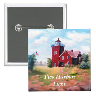 Two Harbors Lighthouse Button