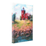 Two Harbours Lighthouse Wrapped Canvas Print