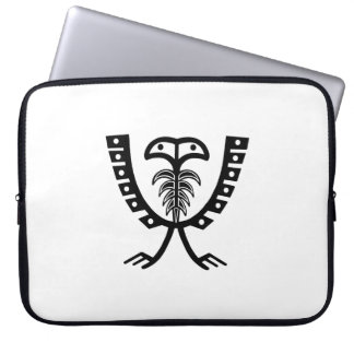Two Headed Black Eagle Laptop Sleeve