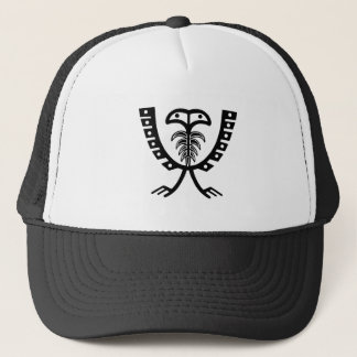 Two Headed Black Eagle Trucker Hat