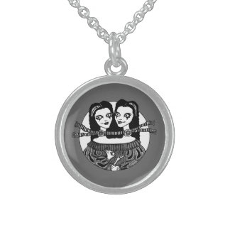 Two Heads Are Better Than One (Sterling Silver ) Round Pendant Necklace