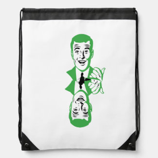 Two Heads Drawstring Backpack