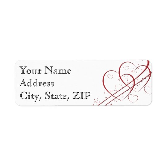 Two Hearts as One Anniversary Return Address