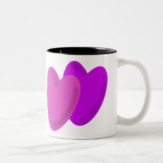 Two hearts as one Two-Tone mug