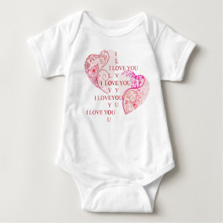 Two Hearts Baby Bodysuit