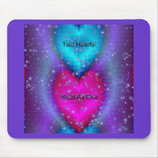 """Two Hearts Beat As One""* Mouse Pad"