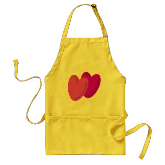 Two hearts beat as one standard apron