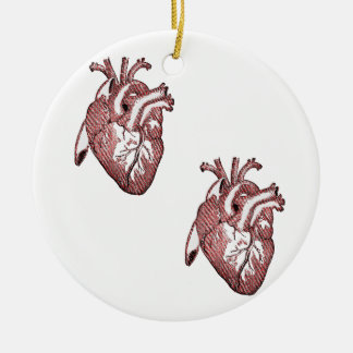 Two Hearts Christmas Ornament
