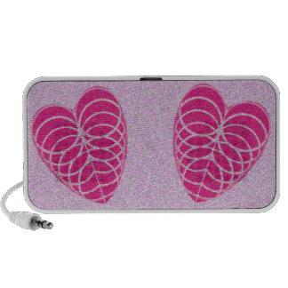 Two Hearts Doodle Mini Speaker