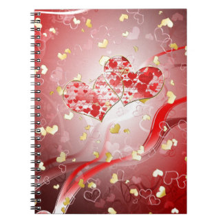 Two hearts forever notebook