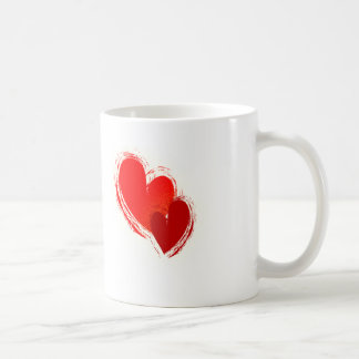 Two hearts in love basic white mug