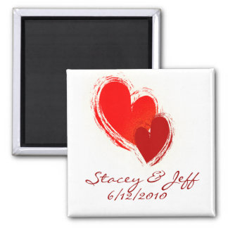 Two hearts in love magnet