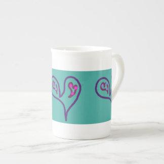 Two Hearts in One Bone China Mug Tea Cup