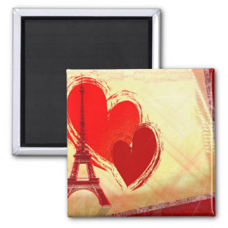Two hearts in Paris Magnet