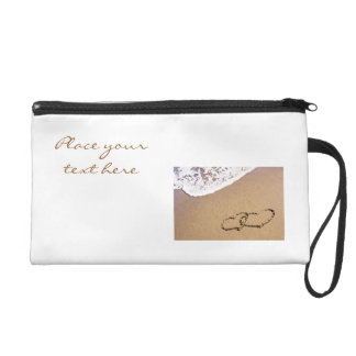 Two Hearts In The Sand Wristlet Purse