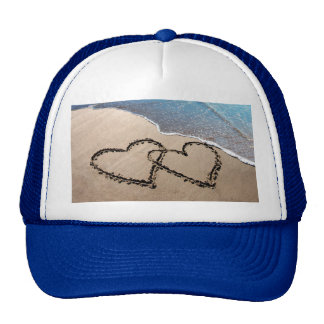 Two Hearts In The Sand Trucker Hats
