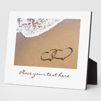 Two Hearts In The Sand Plaque