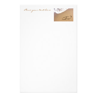 Two Hearts In The Sand Stationery
