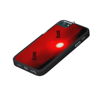 two hearts on the horizon, red, individual text iPhone 5/5S cases