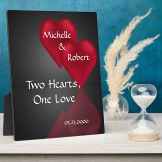 Two Hearts One Love Wedding Engagemet Plaque