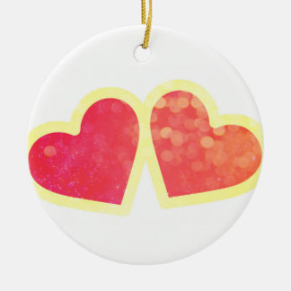 Two hearts ornament