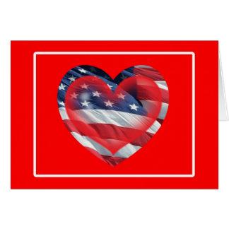 Two Hearts Patriotic Card