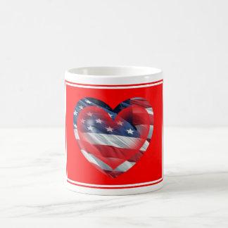 Two Hearts Patriotic Mug
