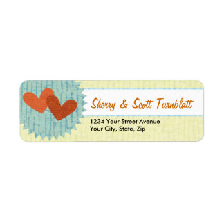 Two Hearts Personalized Return Address Labels