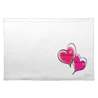 Two Hearts Place Mat Template