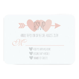 Two Hearts RSVP Card