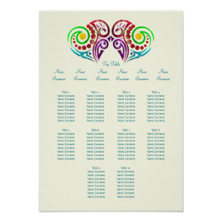 Two Hearts Table Planner Poster