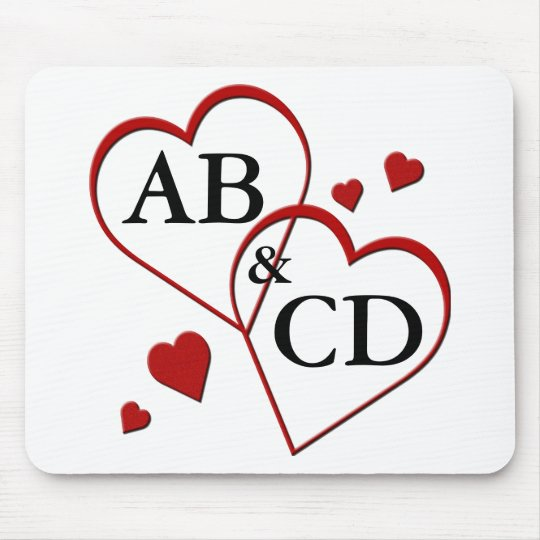 Two Hearts Template Mousepad
