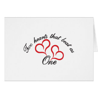 Two Hearts That Beat as One Greeting Card