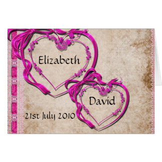 Two Hearts Together Greeting Card