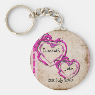 Two Hearts Together Key Ring