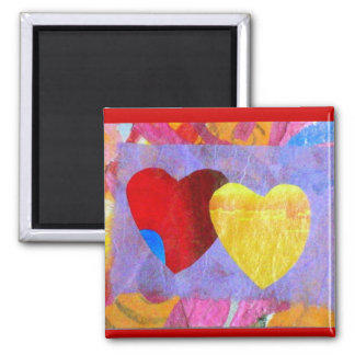 Two Hearts Together Magnet