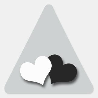 Two Hearts Triangle Sticker