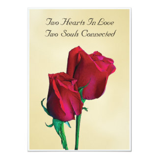 Two Hearts Two Souls Invitation