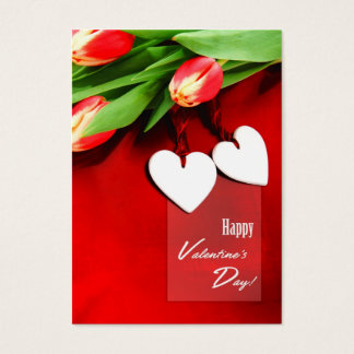 Two Hearts. Valentine's Day Gift Tag