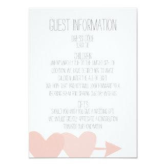 Two Hearts Wedding 11 Cm X 16 Cm Invitation Card
