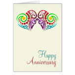 Two Hearts Wedding Anniversary Greeting Card