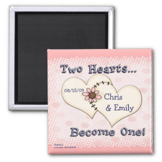 Two Hearts Wedding Congratulations, Chris      ... Square Magnet