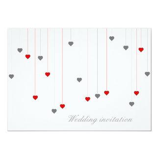Two hearts wedding invitation